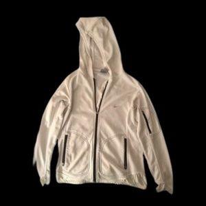 White Nike Sphere Dry Jacket Zip Up